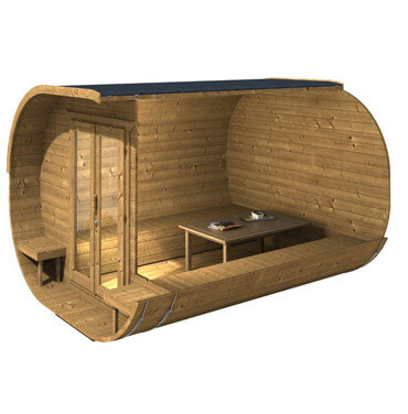 finnish wooden sauna